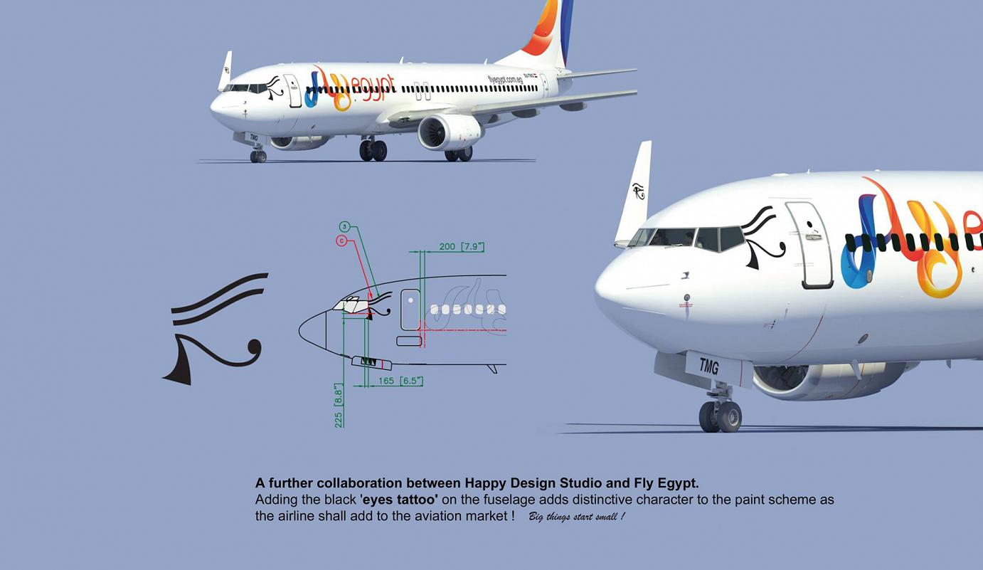 FLY EGYPT / Livery by Didier WOLFF / HAPPY DESIGN STUDIO