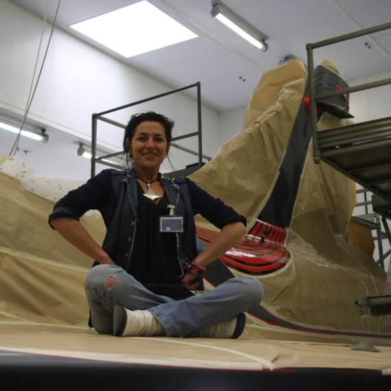 Rachel Gervasoni / Mirage 2000c Tiger / Painting supervision