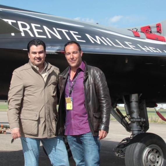 With my friend Abdulaziz Al Rowaished / Aviation link / Paris Air Show 2011