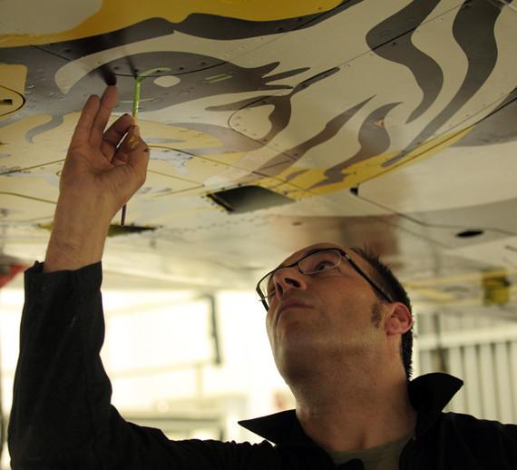 DASSAULT AVIATION MERIGNAC / Didier WOLFF / Mirage 2000c painting supervision