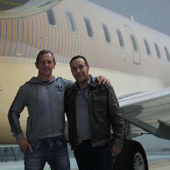 BOMBARDIER GLOBAL 5000 / PAINTING PROCESS / Hermann Bauer & Didier Wolff / Photo Sébastien Ognier / à RUAG Aerospace.