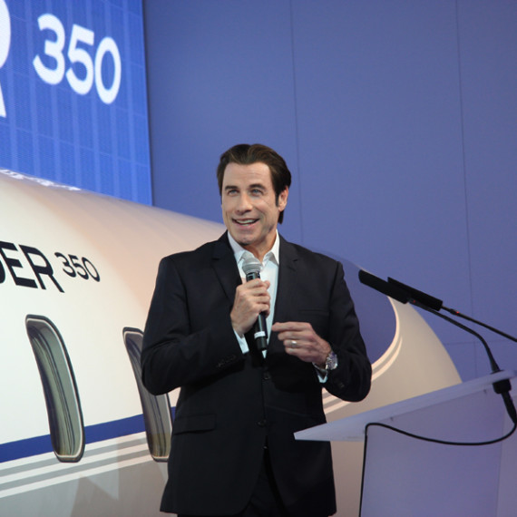 JOHN TRAVOLTA featuring the new Bombardier Challenger 350. Livery designed by Happy Design Studio.