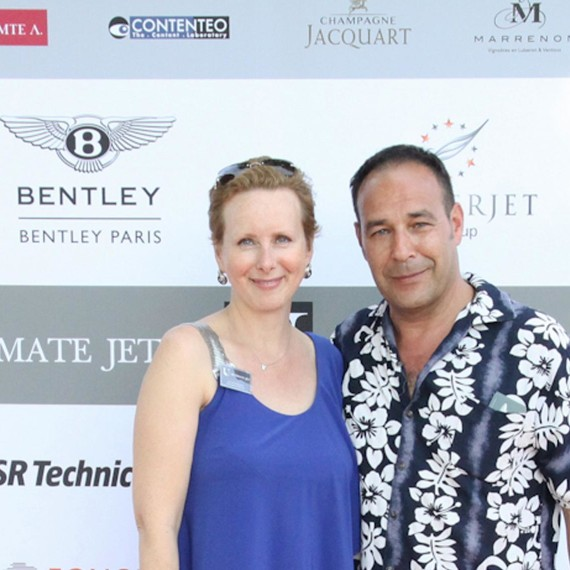 Avec Jill Samuelson / Managing director at Callixo – Publisher of Ultimate Jets & Helicopter Magazine Europe au Polo Club de Paris / Juin 2015